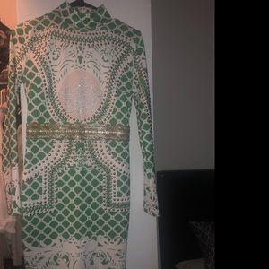 Studded green dress